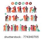 happy family icon multicolored... | Shutterstock .eps vector #774340705