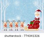 christmas santa claus  ... | Shutterstock .eps vector #774341326