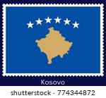 vector postage stamp of a... | Shutterstock .eps vector #774344872