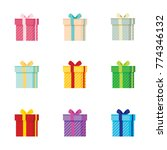 gift present box vector... | Shutterstock .eps vector #774346132