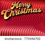 a merry christmas message in... | Shutterstock .eps vector #774346702
