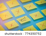 color stickers with fails and... | Shutterstock . vector #774350752