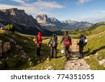 climbers in dolomites | Shutterstock . vector #774351055