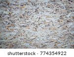 an old oriented strand board ...   Shutterstock . vector #774354922