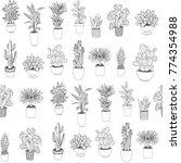 set of house indoor plant... | Shutterstock .eps vector #774354988