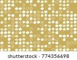 halloween vector pattern with... | Shutterstock .eps vector #774356698