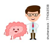 cute funny smiling doctor and... | Shutterstock .eps vector #774363538