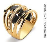 ring gold metal  | Shutterstock . vector #774373132