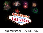 welcome to las vegas sign with... | Shutterstock . vector #77437396