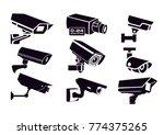 cctv security cameras  | Shutterstock .eps vector #774375265