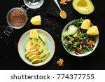 veggies in a bowl. avocado ... | Shutterstock . vector #774377755