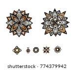mandala flower decoration ... | Shutterstock .eps vector #774379942