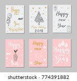 new year and merry christmas... | Shutterstock .eps vector #774391882