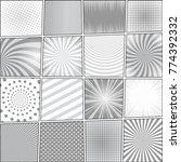 comic book page monochrome... | Shutterstock .eps vector #774392332