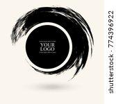 black ink round stroke on white ... | Shutterstock .eps vector #774396922