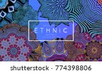 ethnic banners template with... | Shutterstock .eps vector #774398806