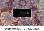 ethnic banners template with... | Shutterstock .eps vector #774398866