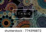 ethnic banners template with... | Shutterstock .eps vector #774398872