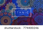 ethnic banners template with... | Shutterstock .eps vector #774400246