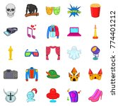 cinematography icons set.... | Shutterstock .eps vector #774401212