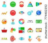 responsiveness icons set....   Shutterstock .eps vector #774402352