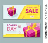 boxing day sale design with... | Shutterstock .eps vector #774414916