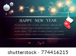 christmas background. new year ... | Shutterstock .eps vector #774416215