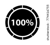 hundred percentage circle icon  ... | Shutterstock .eps vector #774416755