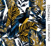 tropical seamless pattern with... | Shutterstock .eps vector #774419422