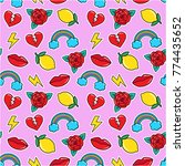 seamless colorful pattern in... | Shutterstock .eps vector #774435652