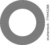 speed lines in circle form .... | Shutterstock .eps vector #774442288