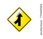 lanes merging left symbol icon... | Shutterstock .eps vector #774450565