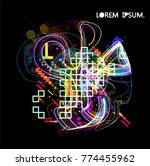moving colorful lines of...   Shutterstock .eps vector #774455962