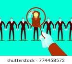 search employees. selecting... | Shutterstock .eps vector #774458572