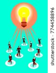 all people have a common idea.... | Shutterstock .eps vector #774458896