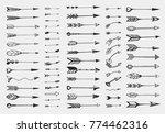 vector set with sketch arrows | Shutterstock .eps vector #774462316