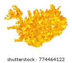 yellow colors low polygon style ... | Shutterstock .eps vector #774464122