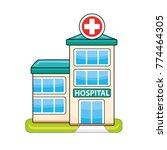 hospital building icon   Shutterstock .eps vector #774464305