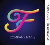 f letter logo icon blending... | Shutterstock .eps vector #774464392