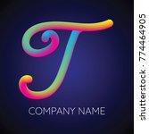t letter logo icon blending... | Shutterstock .eps vector #774464905
