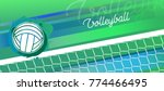 volleyball banner in vector.... | Shutterstock .eps vector #774466495