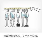 alignment team members employee ... | Shutterstock .eps vector #774474226