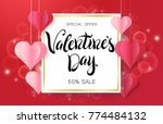 happy valentine's day design... | Shutterstock .eps vector #774484132