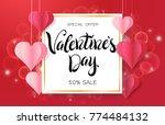 happy valentine's day design... | Shutterstock .eps vector #774484132