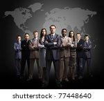 Businessmen Standing In Front...