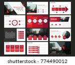 red abstract presentation... | Shutterstock .eps vector #774490012