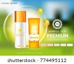 sunscreen ads template ... | Shutterstock .eps vector #774495112