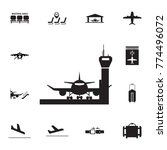 aircraft in airport icon. set... | Shutterstock .eps vector #774496072