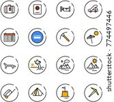 line vector icon set   suitcase ... | Shutterstock .eps vector #774497446