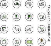 line vector icon set   dollar... | Shutterstock .eps vector #774497452